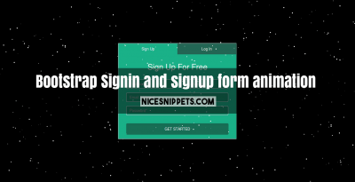 Signin and signup form page design with animation using bootstrap
