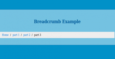 Simple Breadcrumb Design usign html and css