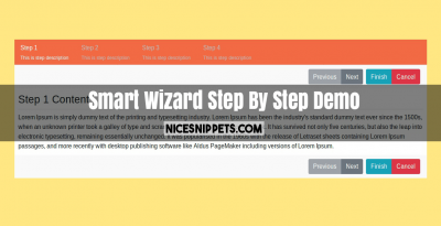 Smart Wizard Step By Step Demo With Bootstrap 4