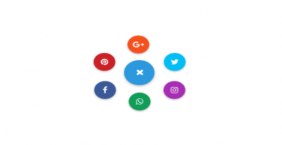 Social toggle button design using bootstrap