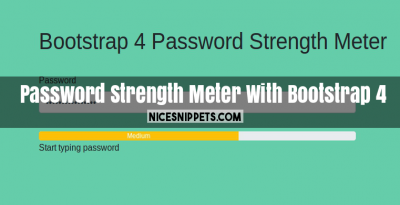 Password Strength Meter Example With Bootstrap 4