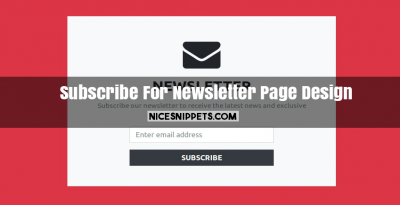 Subscribe For Newsletter Page Design Using Bootstrap 4