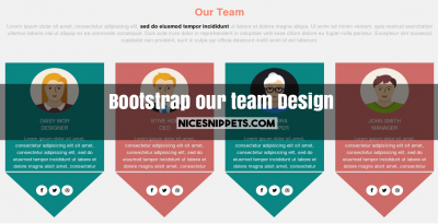 Latest responsive bootstrap our team design page