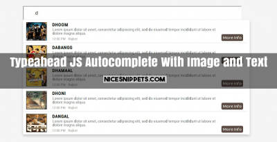 Typeahead JS Autocomplete With Image and Text Design