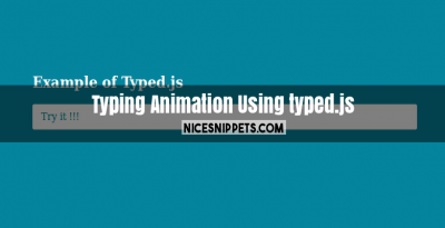 Typing animation using typed.js example