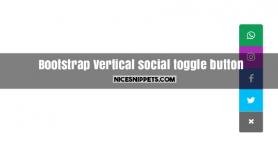 Vertical social toggle button design using bootstrap